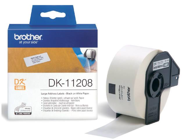 LABEL ETIKET BROTHER DK-11208 38MMX90MM ADRES WIT