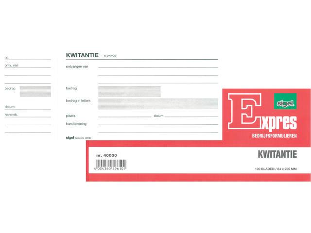KWITANTIEBLOK EXPRES 80X250MM 100V