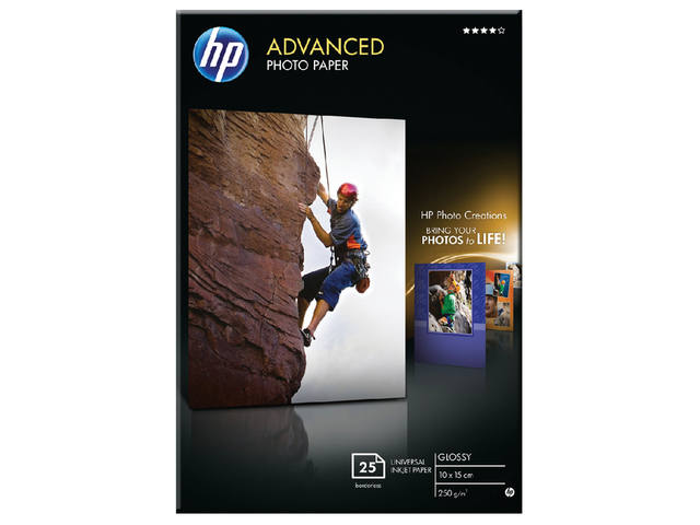 FOTOPAPIER HP Q8691A 10CMX15CM 250GR GLANS 1