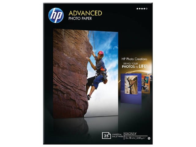 FOTOPAPIER HP Q8696A 13CMX18CM 250GR GLANS