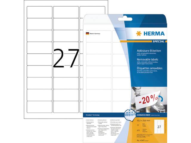 ETIKET HERMA 4347 63.5X29.6MM 675ST