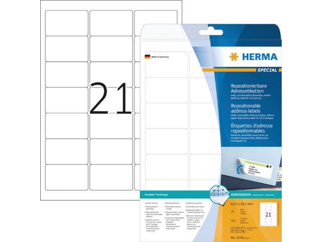 ETIKET HERMA 5074 SPECIAL 63.5X38.1MM 525ST