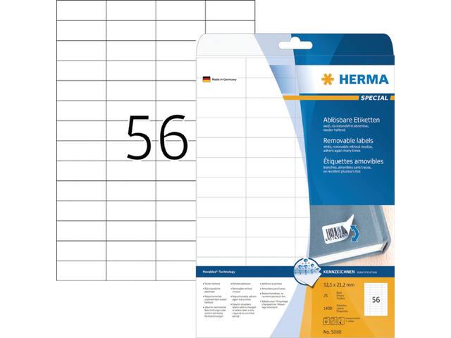ETIKET HERMA 5080 52.5X21.2MM 1400ST