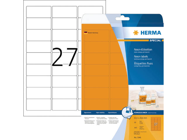 ETIKET HERMA 5141 63.5X29.6MM 540ST OR