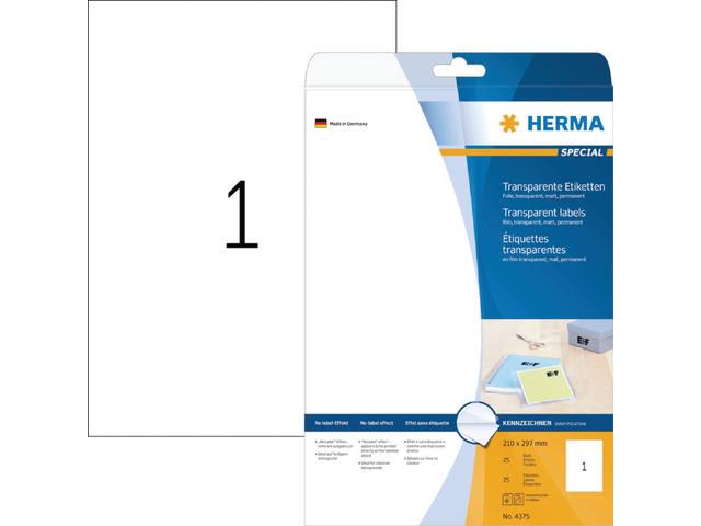 ETIKET HERMA 4375 A4 FOLIE TR 25ST