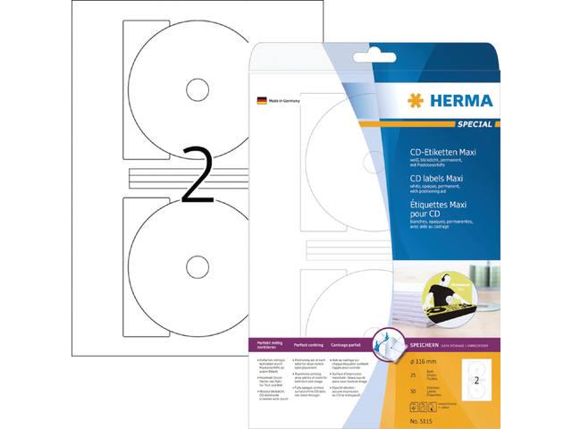 ETIKET HERMA 5115 CD 116MM 50ST