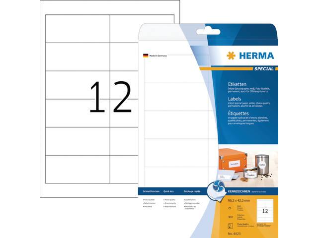ETIKET HERMA INKPRINT 4823 96.5X42.3MM 300ST 1