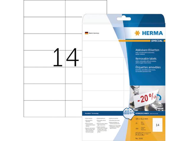 ETIKET HERMA 5081 105X42.3MM 350ST