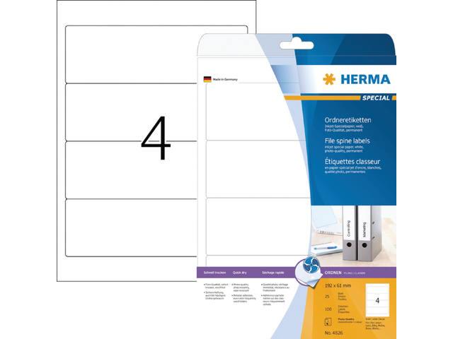 RUGETIKET HERMA 5095 192X61.MM 100ST
