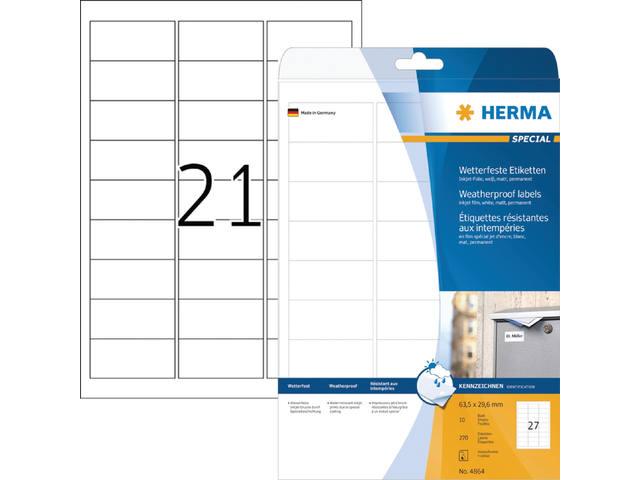 ETIKET HERMA INKPRINT 4864 63.5X29.6MM 270ST