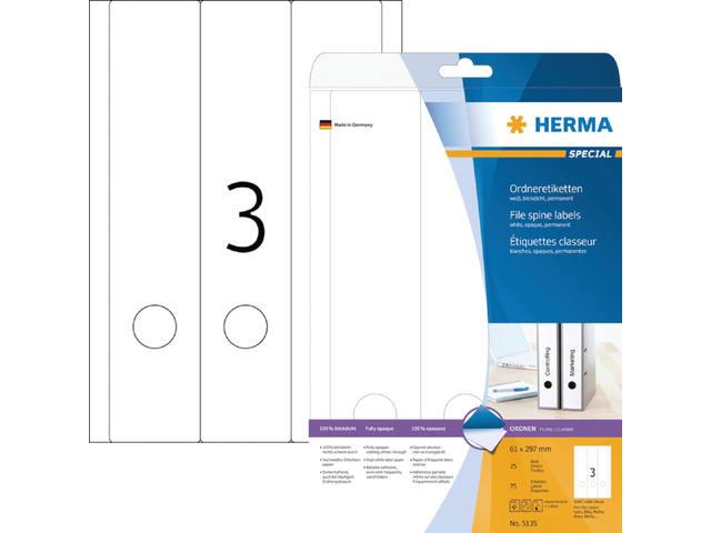 RUGETIKET HERMA 5135 297X61.MM 75ST 1