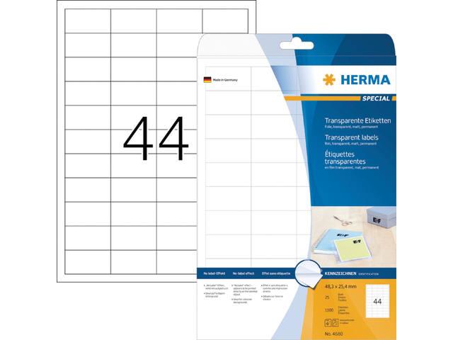 ETIKET HERMA 4680 48.3X25.4MM A4 FOLIE 1100ST TR
