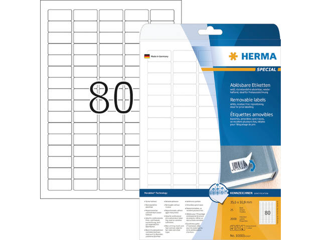ETIKET HERMA MOVABLE 10003 35.6X16.9MM 2000ST