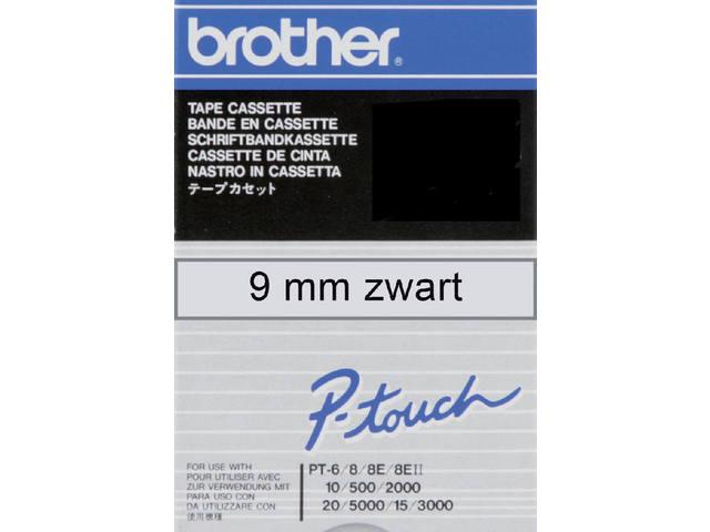 LABELTAPE BROTHER TC-M91 9MMX8M TR/ZWART 1