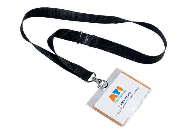 BADGE DURABLE 8600 +TEXTIELBAND 60X90MM