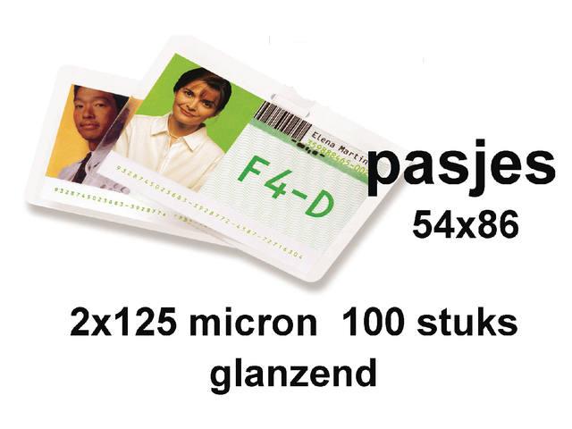 LAMINEERHOES GBC CREDITCARD 54X86MM 2X125MICRON