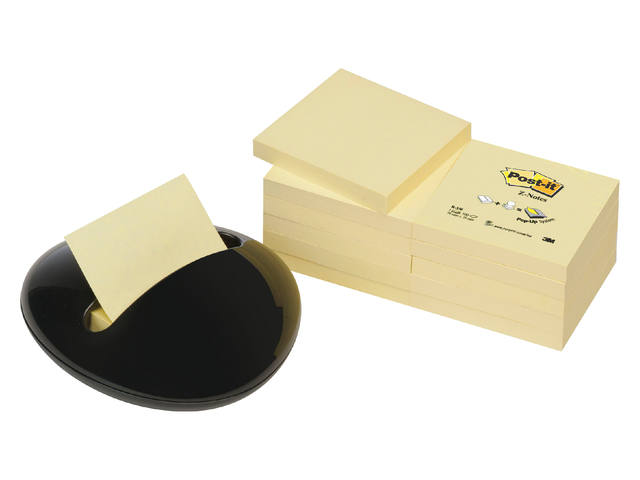 MEMOBLOKDISPENSER 3M POST-IT PBL-B12Y KEIVORMIG ZWART