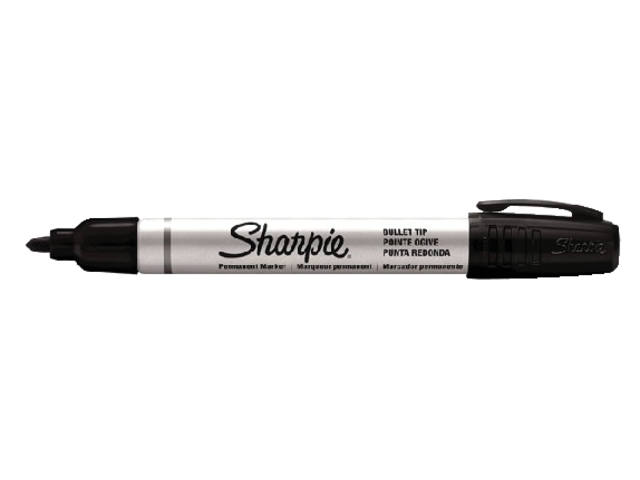 VILTSTIFT SHARPIE METAL BARREL ROND SMAL ZWART