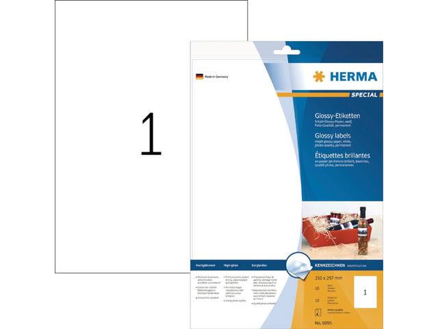 ETIKET HERMA 8895 210X297MM A4 10ST WIT 1