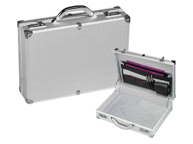 KOFFER ATTACHE RILLSTAB MINI ALU ALUMINIUM