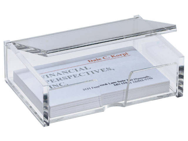 VISITEKAARTBOX SIGEL 90X55MM GLASHELDER