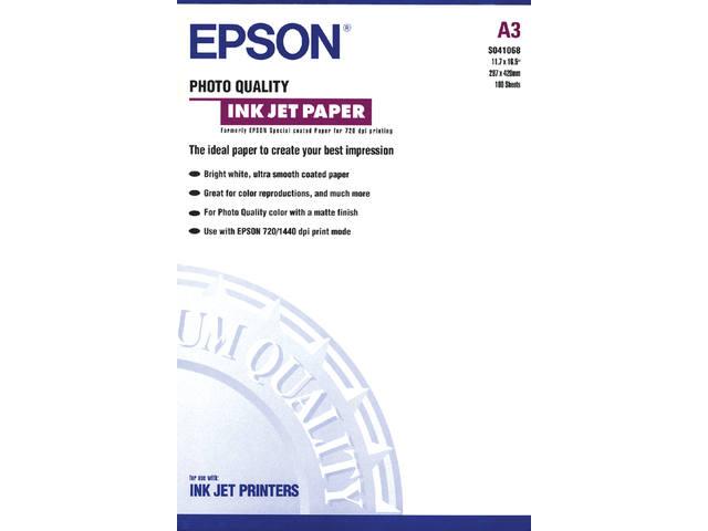 INKJETPAPIER EPSON S041068 A3 104GR