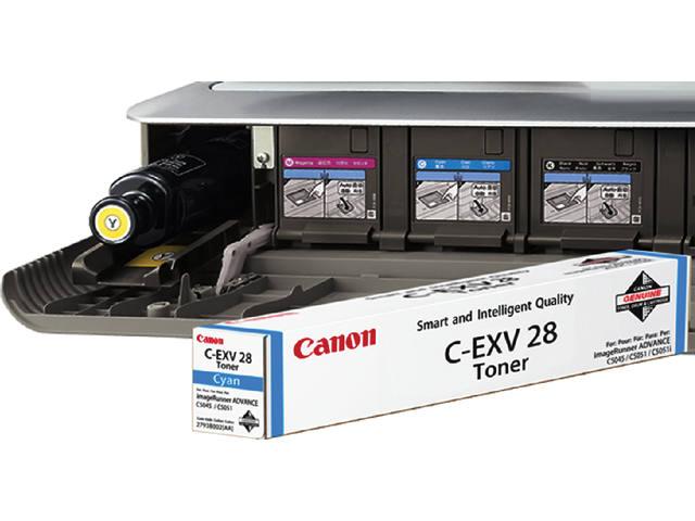 TONERCARTRIDGE CANON C-EXV 28 38K BLAUW