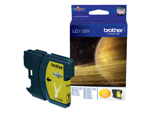 INKCARTRIDGE BROTHER LC-1100 GEEL
