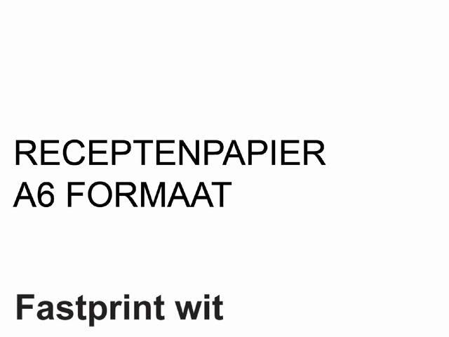 RECEPTPAPIER FASTPRINT A6 80GR WIT 1