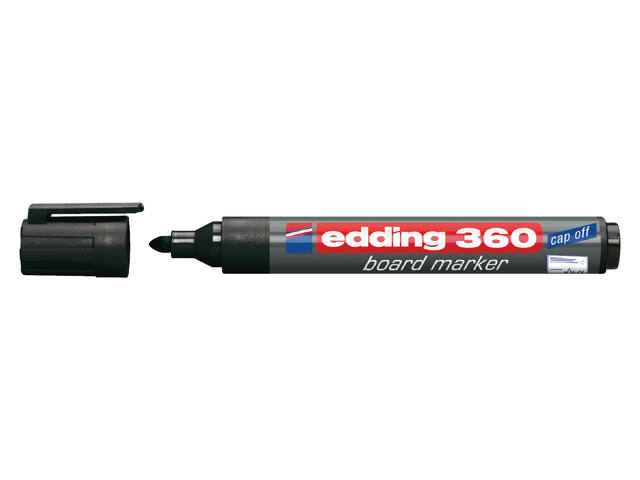 VILTSTIFT EDDING 360 WHITEBOARD ROND 1.5-3MM ZWART