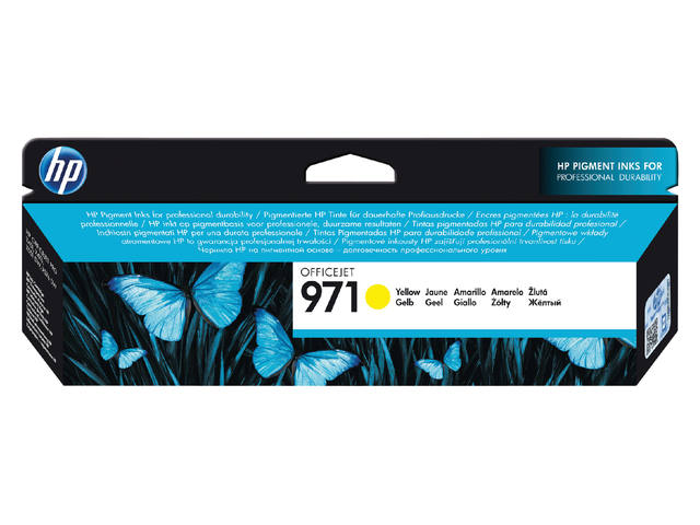 INKCARTRIDGE HP 971 CN624AE GEEL 1