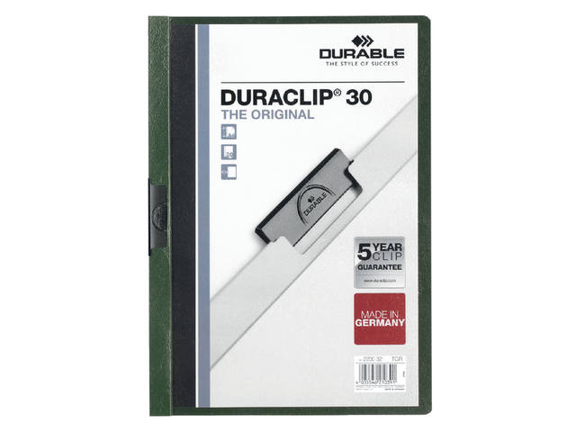 KLEMMAP DURABLE 2200 A4 PL/TR 3MM DONKERGROEN 1