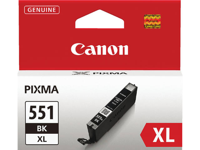 INKCARTRIDGE CANON CLI-551XL HC ZWART