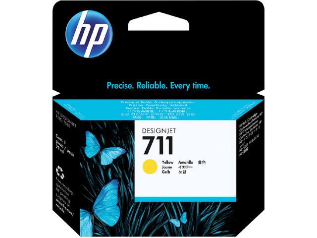 INKCARTRIDGE HP 711 CZ132A GEEL