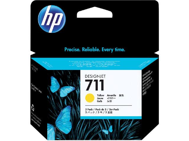 INKCARTRIDGE HP 711 CZ136A HC GEEL
