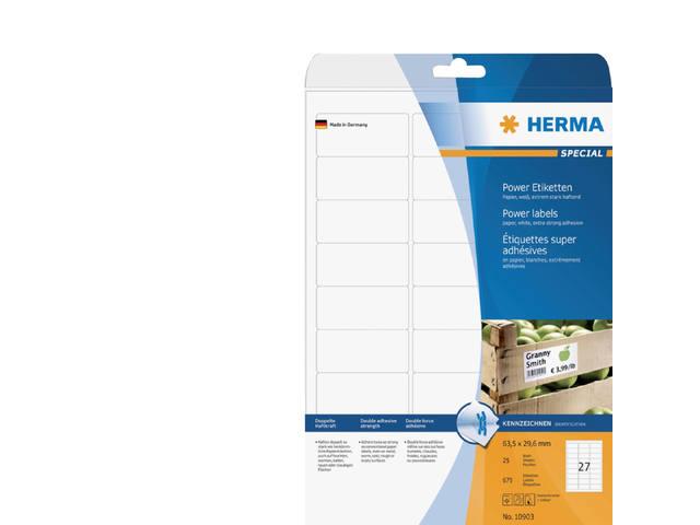 ETIKET HERMA 10903 63.5X29.6MM 675ST