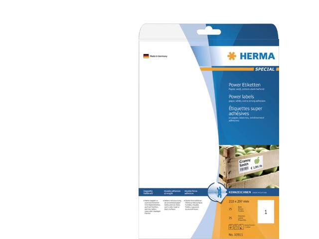 ETIKET HERMA 10911 210X297MM 25ST