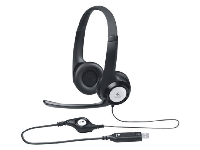 HEADSET LOGITECH H390 ON EAR USB ZWART