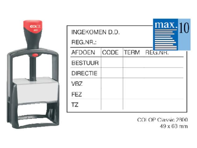 TEKSTSTEMPEL COLOP 2800 CLASSIC BON 10R 68X49MM