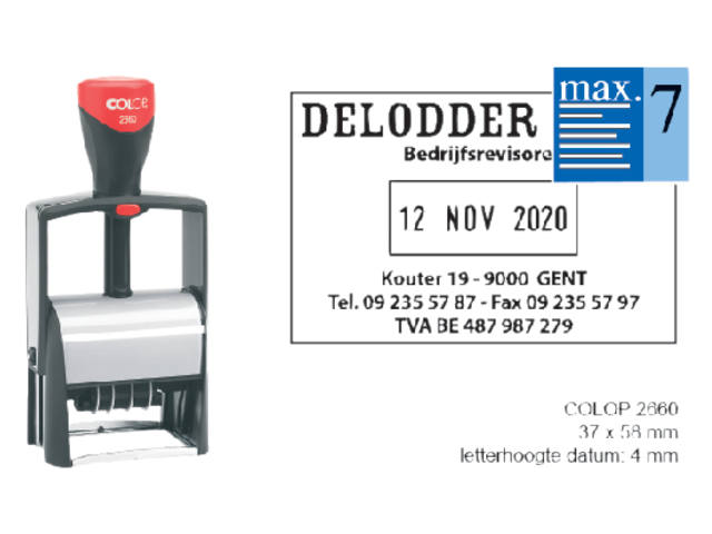 WOORD-DATUMSTEMPEL COLOP S2660 CLASSIC BON 36X56MM