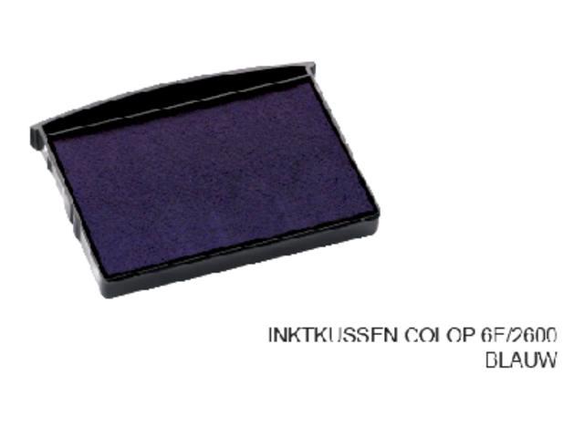 INKTKUSSEN COLOP 6E/2600 BLAUW