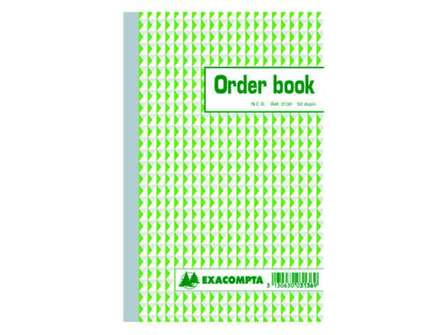ORDERBOEK EXACOMPTA 210X135MM 50X2V