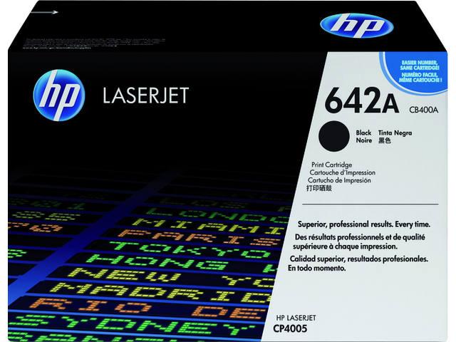 TONERCARTRIDGE HP 642A CB400A 7.5K ZWART