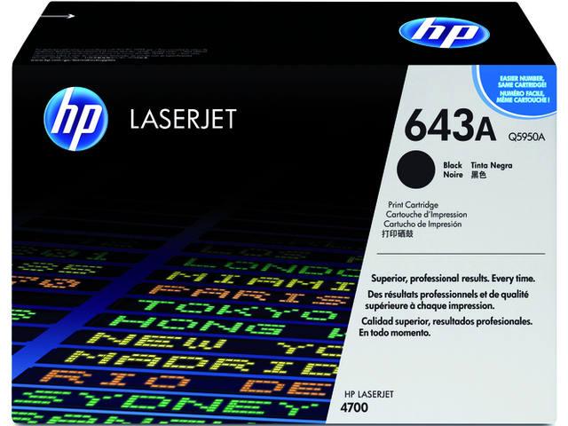 TONERCARTRIDGE HP 643A Q5950A 11K ZWART