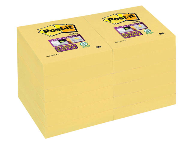 MEMOBLOK 3M POST-IT 622 47.6X47.6MM SS GEEL