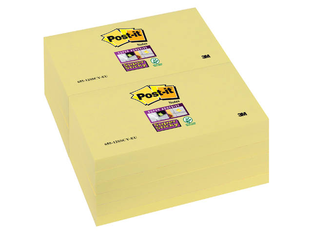 MEMOBLOK 3M POST-IT 655-SSY 76X127MM SS GEEL