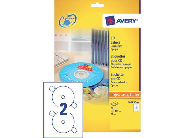ETIKET AVERY ZWECK CD L6043-100 200ST