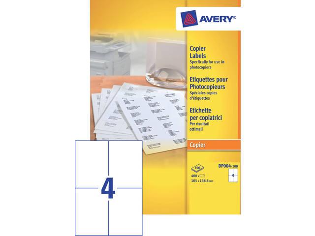 ETIKET AVERY DP004-100 105X149MM 400ST