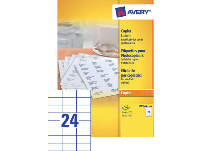 ETIKET AVERY DP247-100 70X37MM 2400ST