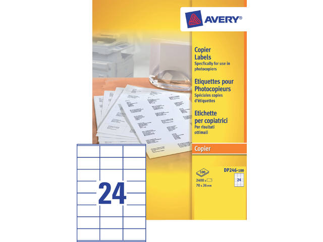 ETIKET AVERY DP246-100 70X36MM 2400ST 1